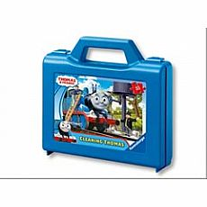 Cleaning Thomas 25-pc Puzzle in Plastic Suitcase