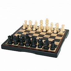 Ebony Wood Chess Set 15