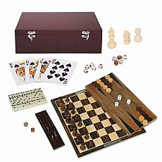 Dark Wood 7-in-1 Game Set