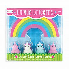 Unique Unicorn Scented Erasers