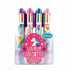 Unique Unicorns 6 Click Multi Color Pen