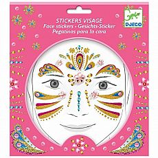 Face Stickers Gold Princess