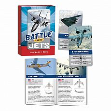 Battle Cards Card Game & Book - Military Jets