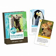 Wild Cards Card Game & Book - Baby Animals Around the World