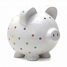 Confetti Piggy Bank 8""