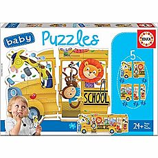 Animal School Bus Baby Puzzle