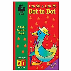 Buki Activity Book -  1-50 & 1-75 Dot to Dot