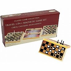 Travel 3-in-1 Magnetic Game Set