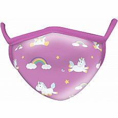 Wild Smiles Face Mask - Adult - Unicorns & Rainbows