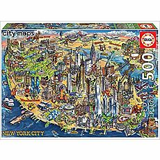 New York City Map 500-pc Jigsaw Puzzle