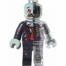4D Brick Man Zombie Anatomy Model