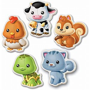 Animals 5-Puzzle Baby Puzzles