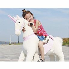 Giddy Up 'N Go Unicorn - White/Pink