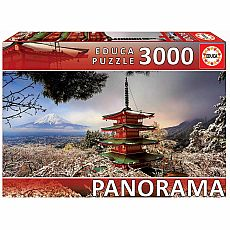 Mount Fuji and Chureito Pagoda 3000-pc Jigsaw Puzzle