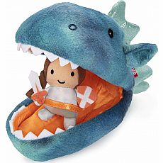 Dragon Plush Pod With Knight, 9.5 In