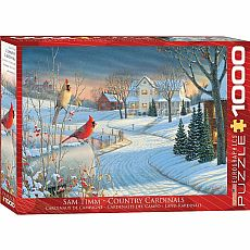 Winter Wonderland Puzzles - Country Cardinals by Sam Timm