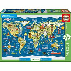 World Map SOS Children's Villages 200-pc Jigsaw Puzzle
