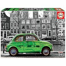 Car in Amsterdam 1000-pc Jigsaw Puzzle