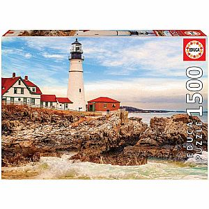 Rocky Lighthouse 1500-pc Jigsaw Puzzle