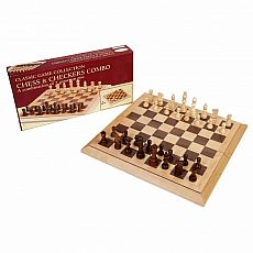 Deluxe Staunton Wood Chess and Checker Set