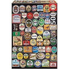 Beer Labels Collage 1000-pc Neon Jigsaw Puzzle