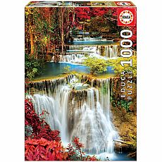 Waterfall in Deep Forest 1000-pc Jigsaw Puzzle