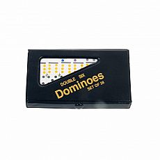 Mini Travel Double Six Dominoes Set