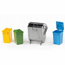 Garbage can set (3 small, 1 large)