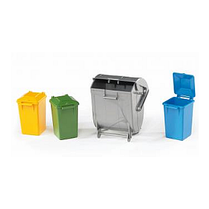 Trach Bin Set (3 small, 1 large)