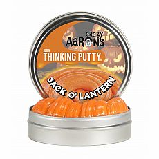 "4"" Thinking Putty - Jack O' Lantern - Glow in the Dark"