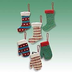 Knit Mitten/Stocking Ornaments