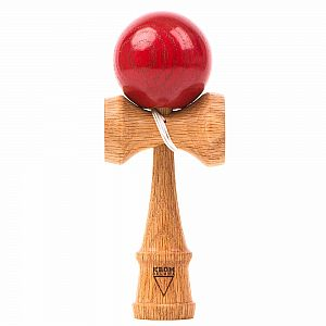 KROM Deluxe Kendama - Red Oak with Red Tama