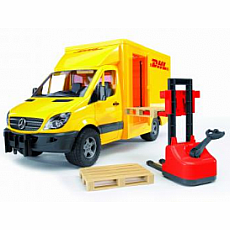 MB Sprinter DHL Truck with Manually Operated Pallet Jack
