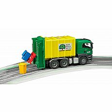 MAN TGS Rear-Loading Garbage Truck - Green/Yellow