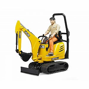 JCB Micro Excavator 8010 CTS & Construction Worker