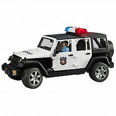 Jeep Rubicon Police Car & Light Skin Policeman