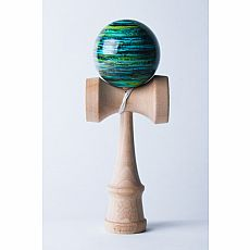 Biggie Kendama - Marble - Black/Green/Seafoam