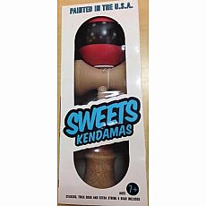 Biggie aTack Stripe Kendama - Black/Coral