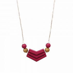 Nixi Cosima Teething Necklace - Bordeaux