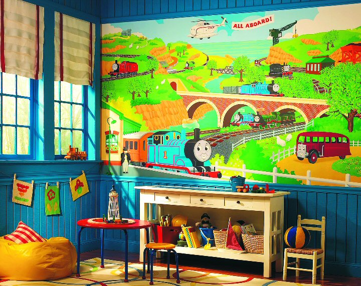 Thomas Amp Friends Large Mural Totally Thomas Inc