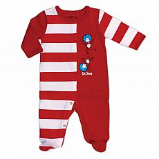 Dr. Suess Footed Sleeper - Thing 1 & Thing 2 - 9 Months