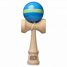 Kaizen Kendama - Aqua with Lime Green Single Stripe - Gloss