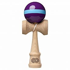 Kaizen Kendama - Purple with Light Blue Single Stripe - Gloss