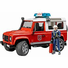 Land Rover Fire Department Vehicle with Fireman