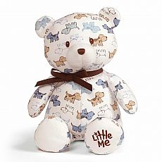 Little Me Puppy Print Teddy 10""