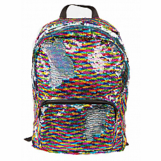 Magic Sequin Backpack - Rainbow/Silver