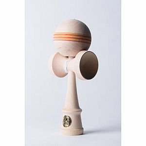 Homegrown Maple Kendama - Tequila Sunrise Spectra Stripe - HORIZONTAL