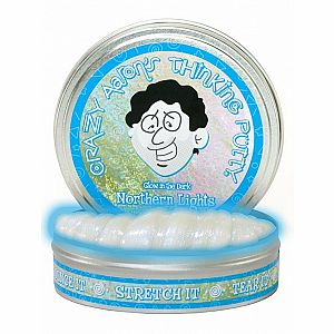 "4"" Thinking Putty - Northern Lights - Glow in the Dark"