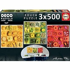 Exotic Fruits & Flower 500-pc Jigsaw Puzzle Set