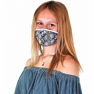 Wild Smiles Face Mask - Child - Snakeskin Print
